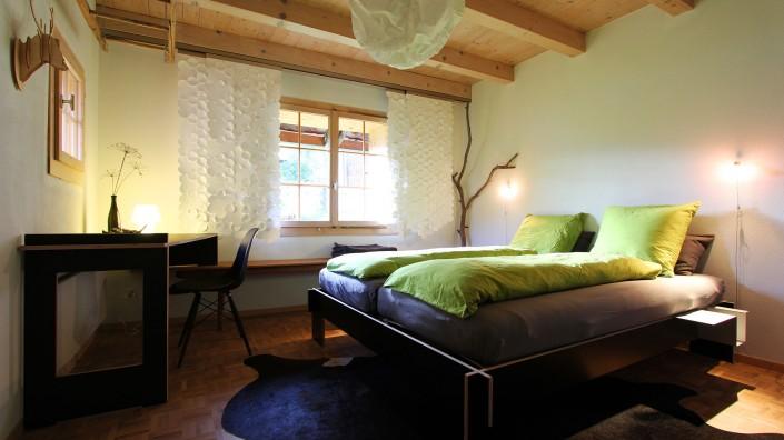 Ferien, Ferienwohnung, Albula, Alvaneu, Graubünden, Ferienhaus, Schlafzimmer