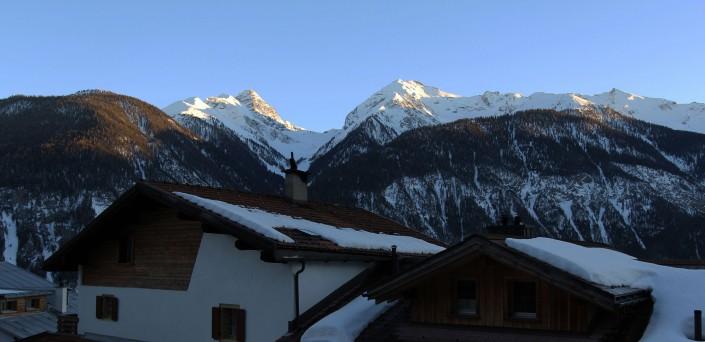 Albula, Alvaneu, Graubünden, Ferienhaus, Tinzerhorn, Piz Mitgel.